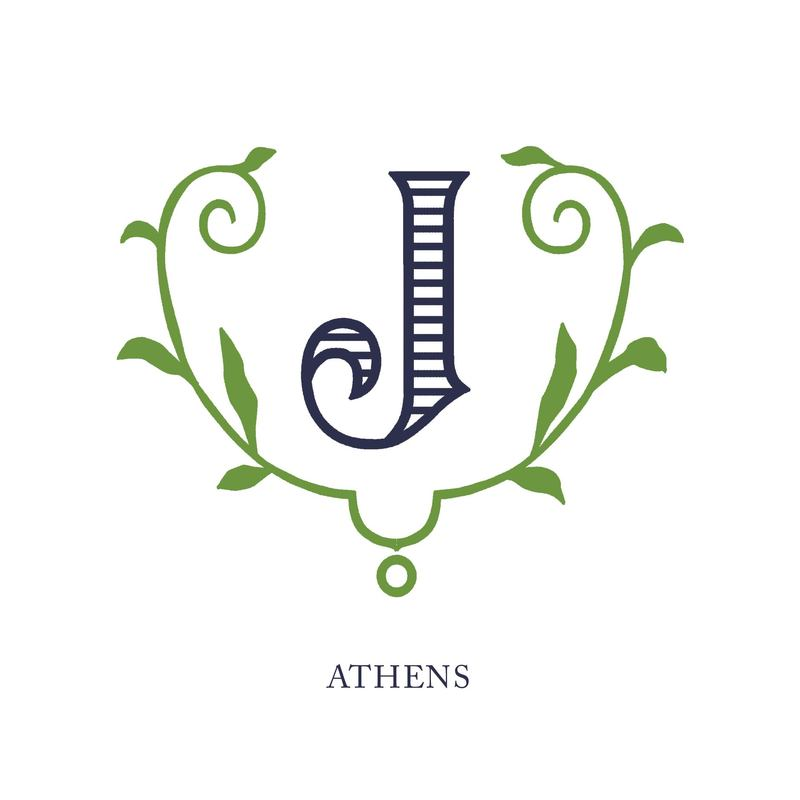 Wallace Monograms - Athens. See samples of this monogram by searching #wpc_athens on social media.