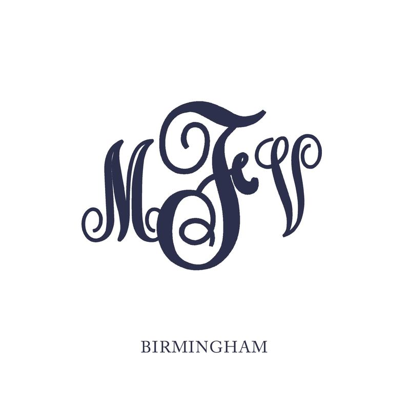 Wallace Monograms - Birmingham. See samples of this monogram by searching #wpc_birmingham on social media.