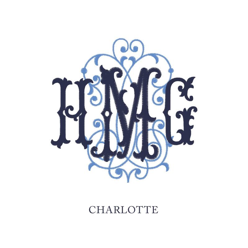 Wallace Monograms - Charlotte. See samples of this monogram by searching #wpc_charlotte on social media.