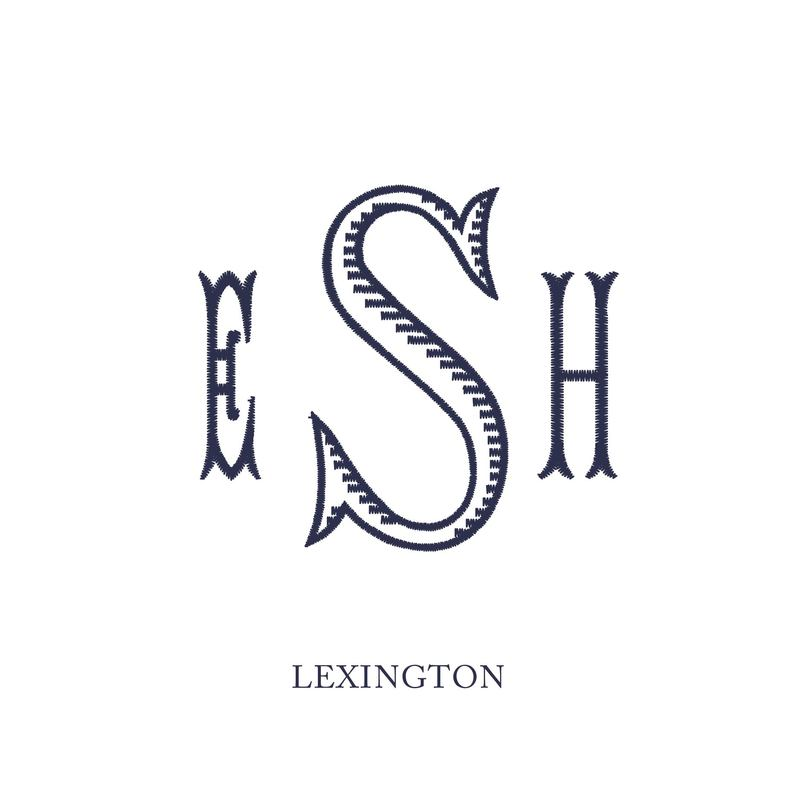 Wallace Monograms - Lexington. See samples of this monogram by searching #wpc_lexington on social media.