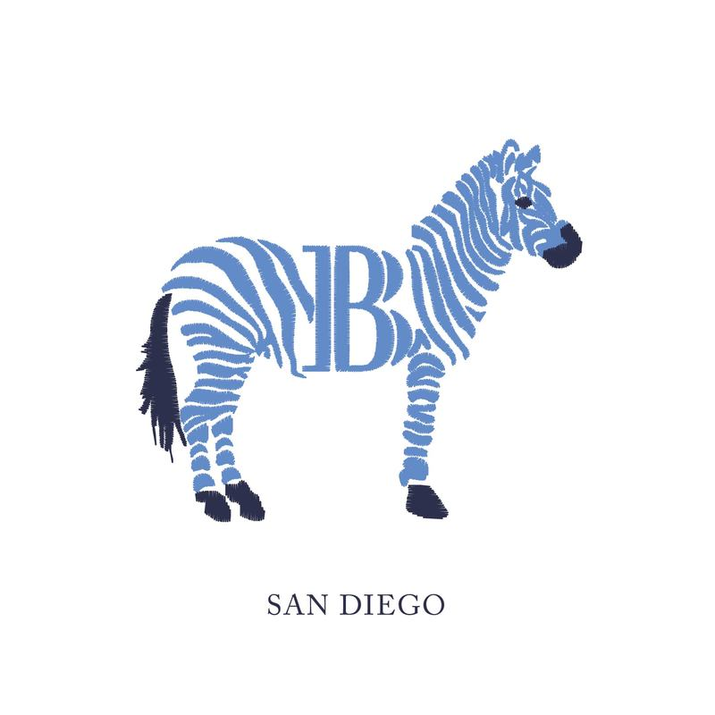 Wallace Monograms - San Diego. See samples of this monogram by searching #wpc_sandiego on social media.